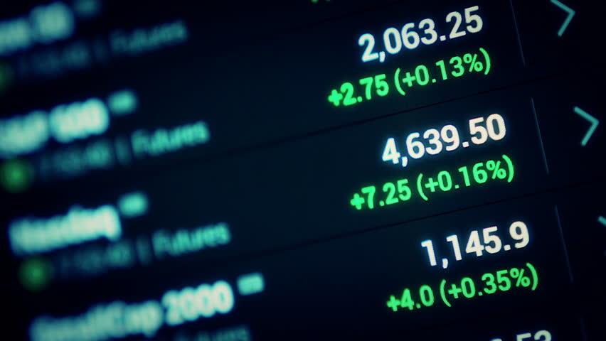 Stock market tickers moving background . 4K.   Shutterstock HD Video #12799784