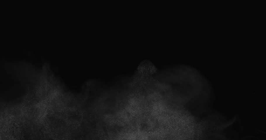 Rough atmospheric effect filling bottom of screen shot in studio
