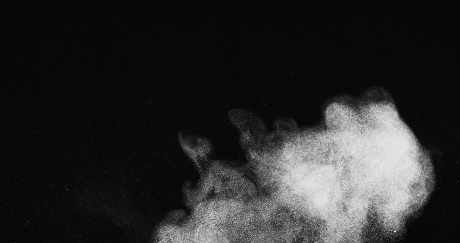 Streaky dust puff with mild turbulence shot in studio