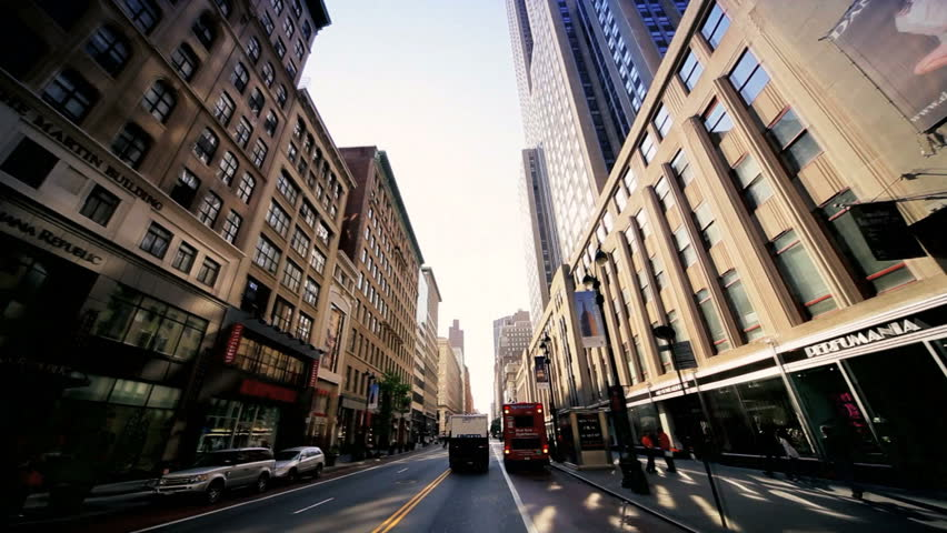 NEW YORK - MAY 6: POV driving though Manhattan, New York past  Flatiron Building and the Dewey Arch, May 6, 2011, New York, NY.  | Shutterstock HD Video #1280350