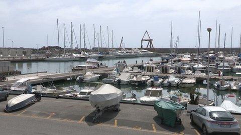 Panoramic view of the port of Chiavari