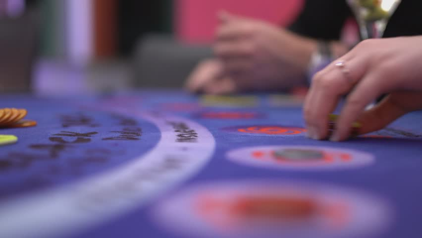 Gambling Black Jack in a casino - making bets | Shutterstock HD Video #12838328