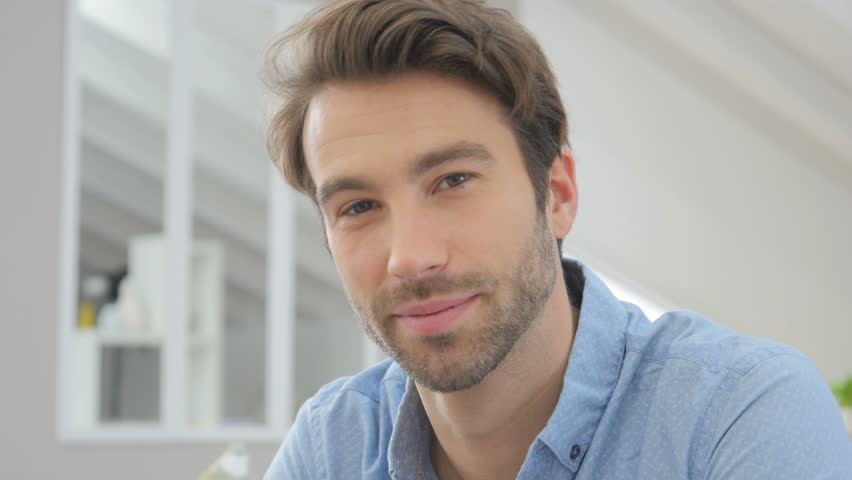 Portrait of handsome 30-year-old man | Shutterstock HD Video #12845600