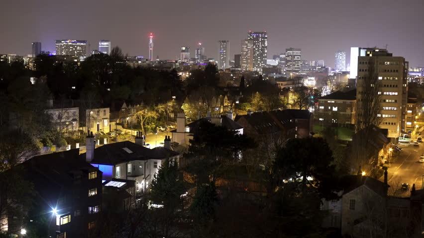Birmingham England City Centre Skyline Stock Footage Video 100