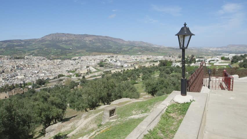 Wide pan Fez scenic cityscape. Shot in Morocco.   Shutterstock HD Video #12872360