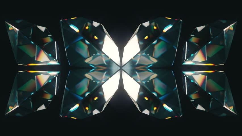 Eight colourful tilted diamonds rotating on a black background. Looping animation. | Shutterstock HD Video #12887021