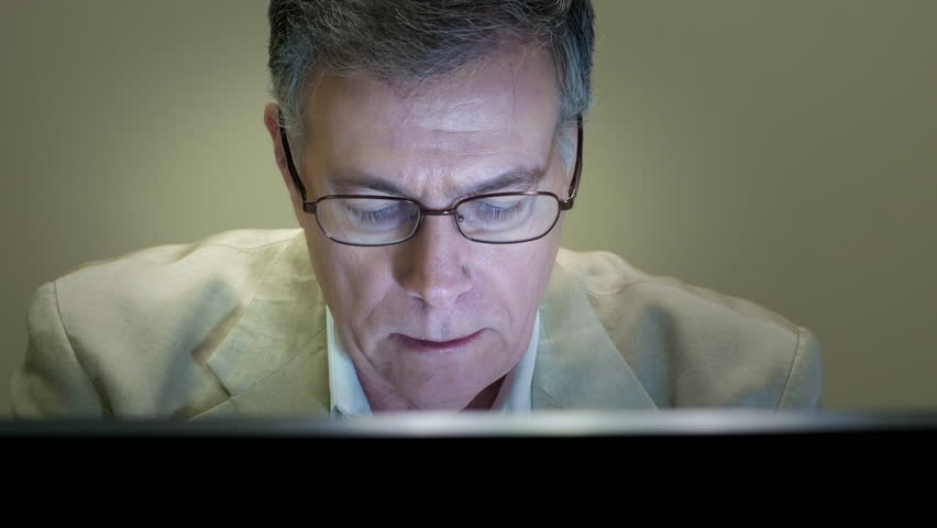 Businessman working and thinking about something serious | Shutterstock HD Video #12889499