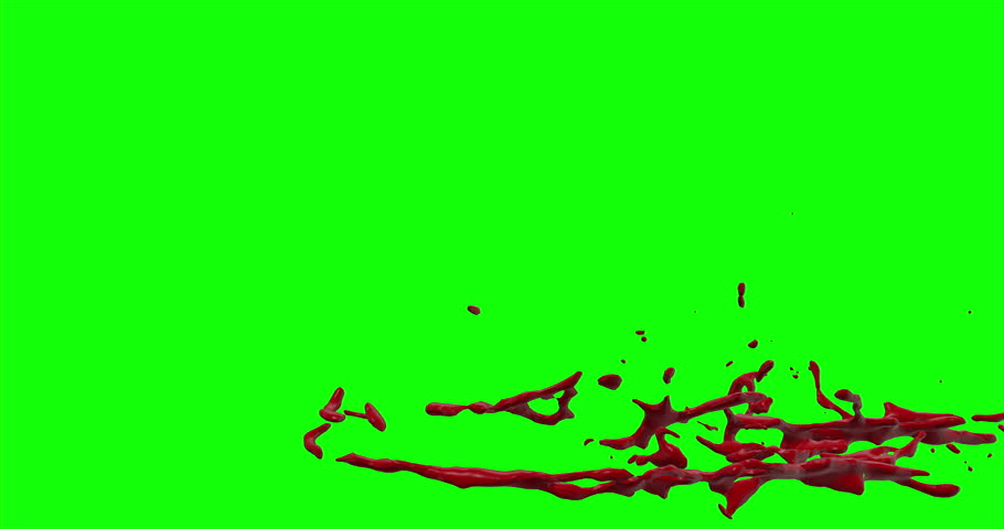4k Blood Burst Slow Motion (Green Screen) 169 | Shutterstock HD Video #12953804