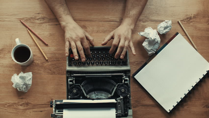 Creative Writing, old typewriter in different styles and moods. In my page, huge variety of typewriting shots in different colors included b&w, retro style. Lots of different angle, close-ups and more