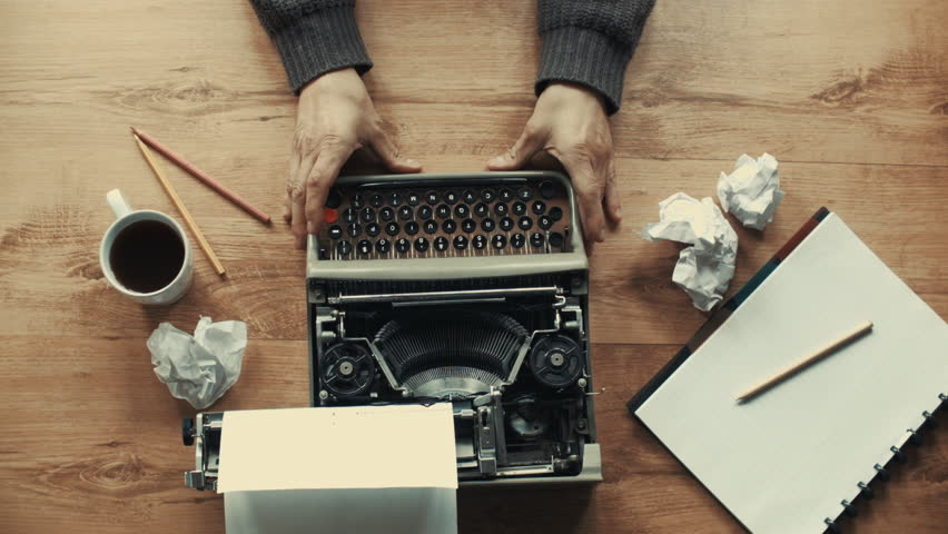 Creative typewriter shots in many different style, colors, mood, B&W. Beautiful close-ups, beautiful retro style shots | Shutterstock HD Video #12956108