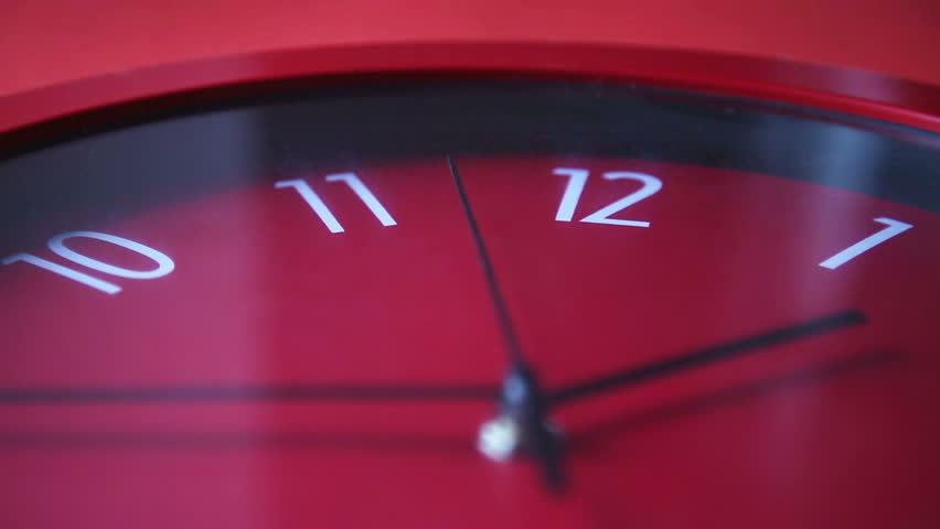 red wall clock woriking #12979004