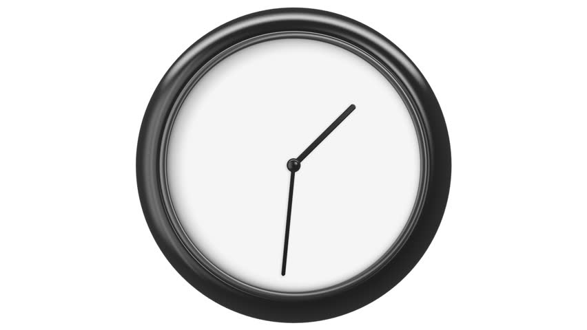 Clock with Blank Dial. HD 1080. Loop. Isolated on White. | Shutterstock HD Video #12981104