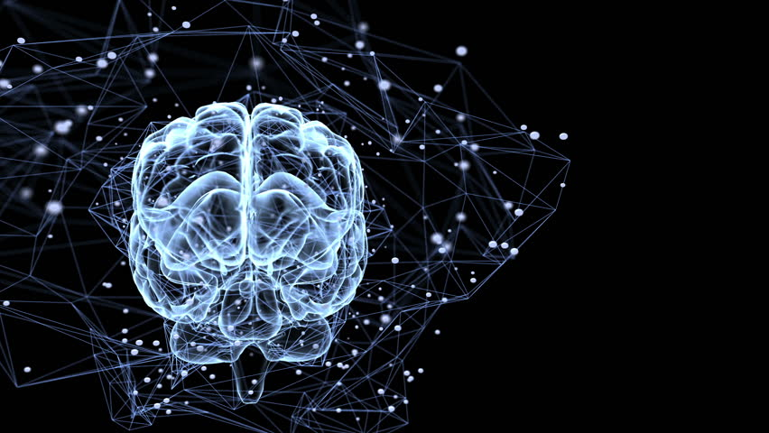 Neuronal connections. Animation illustrating the thought processes in the brain | Shutterstock HD Video #13003817