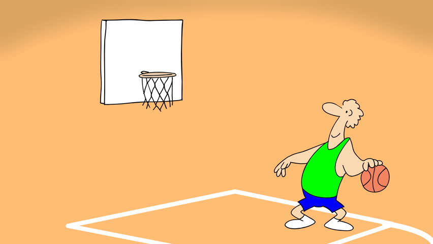 Small Gag About Basketball Game 2d Stock Footage Video 100 Royalty Free 13008860 Shutterstock
