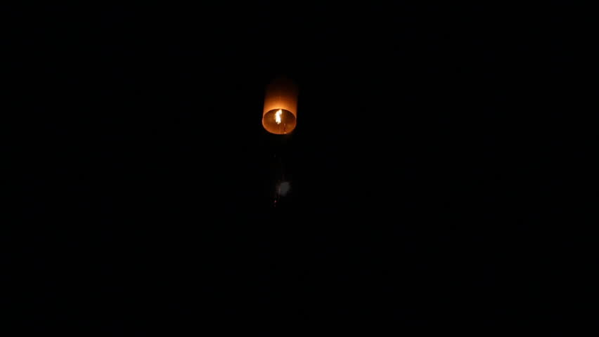 People release floating lanterns to sky  | Shutterstock HD Video #13012607