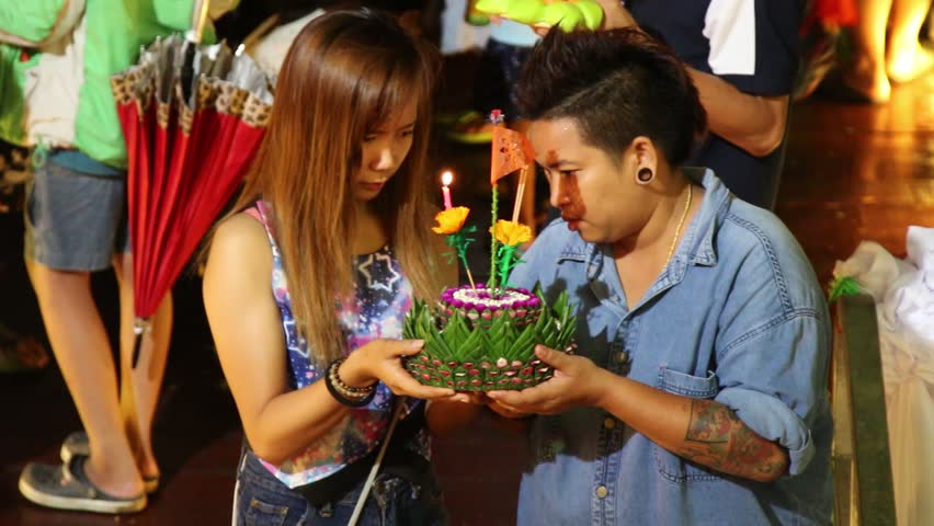 CHACHOENGSAO, THAILAND - NOVEMBER 25: Many people do not know the name of the city Thailand to attend a religious ceremony. Year on November 25, 2015 at Chachoengsao Thailand. | Shutterstock HD Video #13014371
