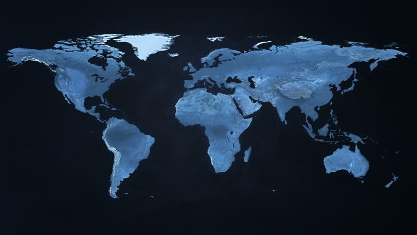 Digital World Map   Shutterstock HD Video #13022756