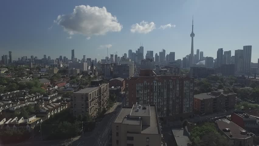 Aerial view downtown Toronto over King street in a sunny day   Shutterstock HD Video #13035722