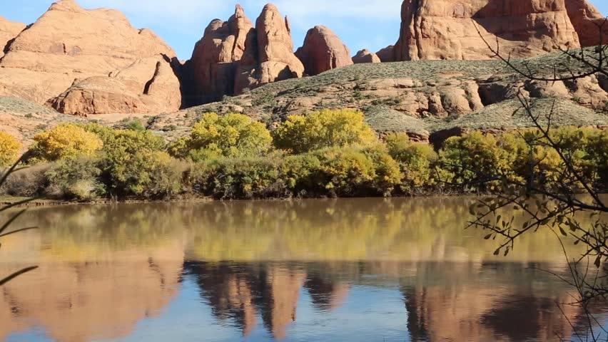 Red rocks on Colorado River - Utah | Shutterstock HD Video #13036136