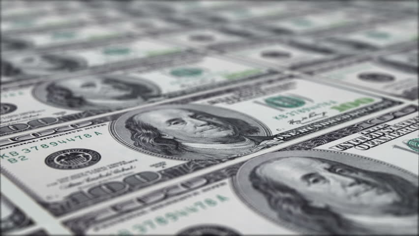 Printing 100 dollar notes (loopable) | Shutterstock HD Video #1303705