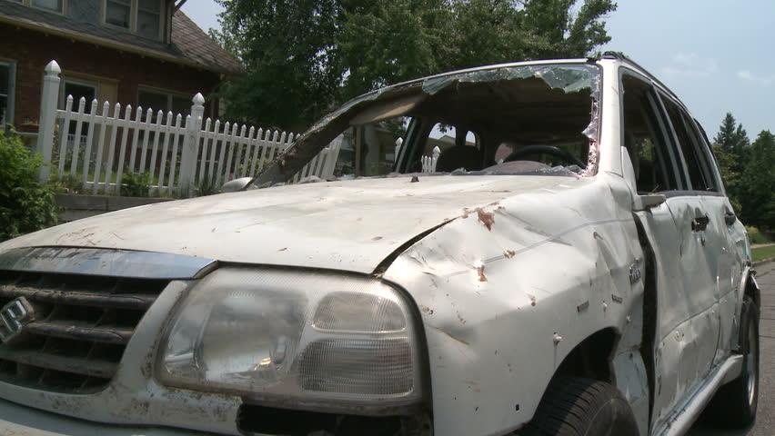 Tornado Devastation, Damaged Car v.01