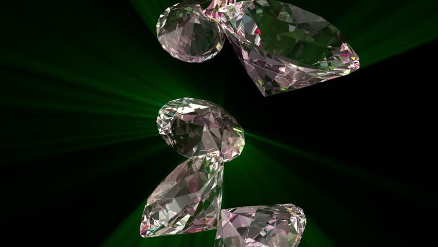 Slowly Falling Shiny Diamonds 4K computer render 3D animation. | Shutterstock HD Video #13071602
