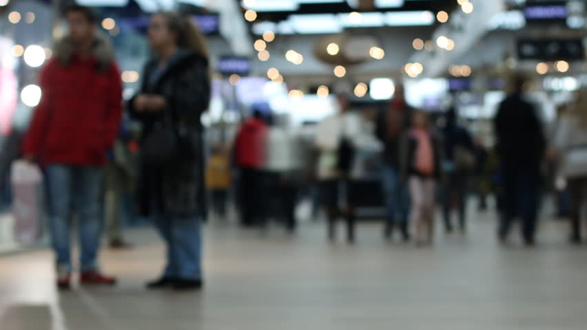 People Shopping In The Mall, Blurred,Timelapse #13104641