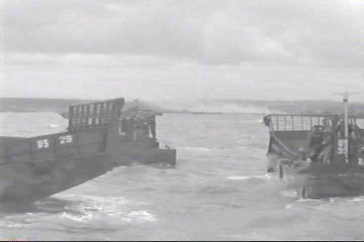 CIRCA 1940s - Invasion convoy crossing through France on D-Day 1944.   Shutterstock HD Video #13113116