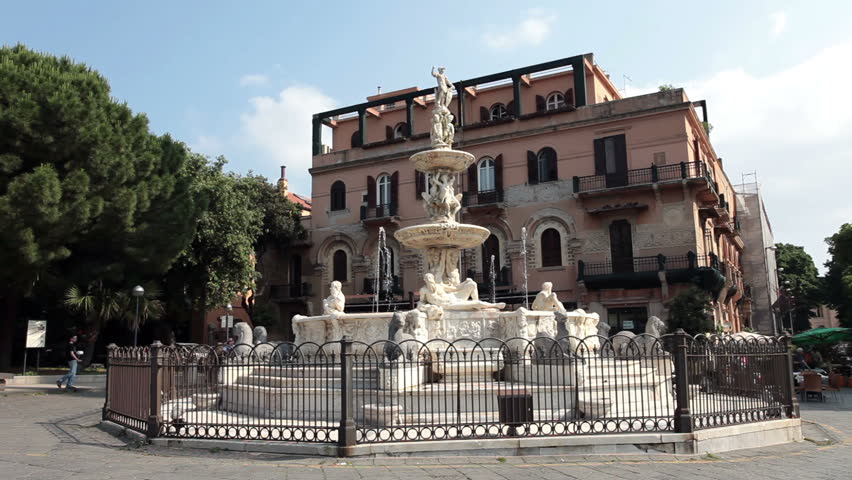 Messina Sicily Italy Orion Fountain Stock Footage Video ...