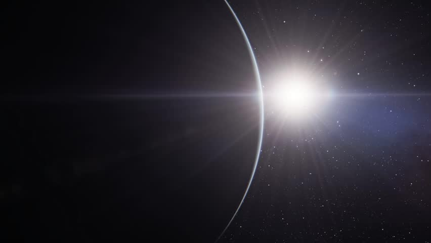 Flights to outer space, flying over an unknown planet | Shutterstock HD Video #13160129