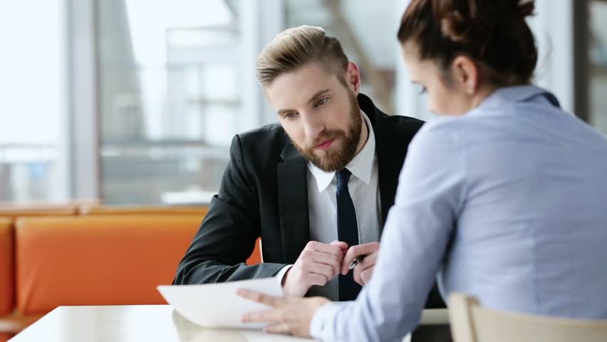 Candidate and interviewer - job interview concept   Shutterstock HD Video #13175120