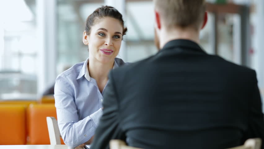 Job interview - happy recruiter shaking hand with candidate | Shutterstock HD Video #13175141