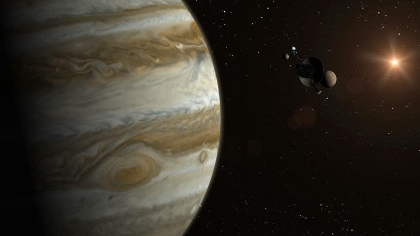 Voyager 2 approaches Jupiter.