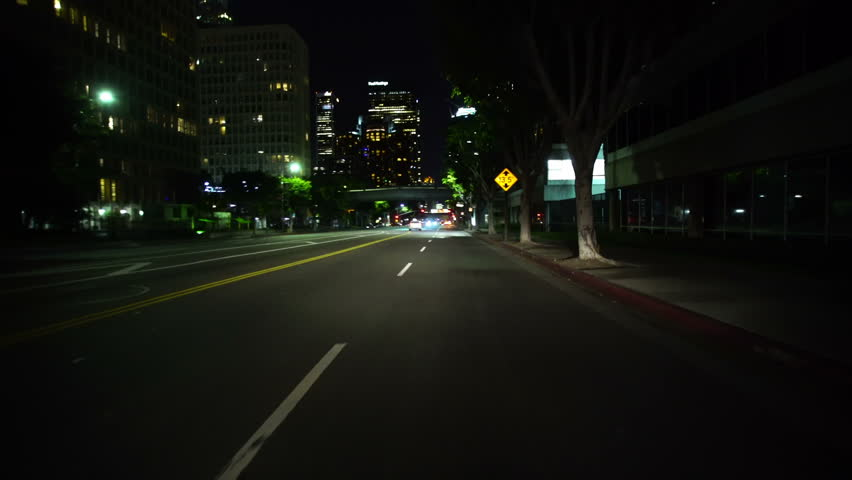 Driving Plates LA Downtown Figueroa St Front View 06 South bound at 2nd to 3rd St Bridge #13225757