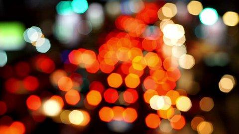 Defocused Image Of Traffic Lights In The Modern City.?