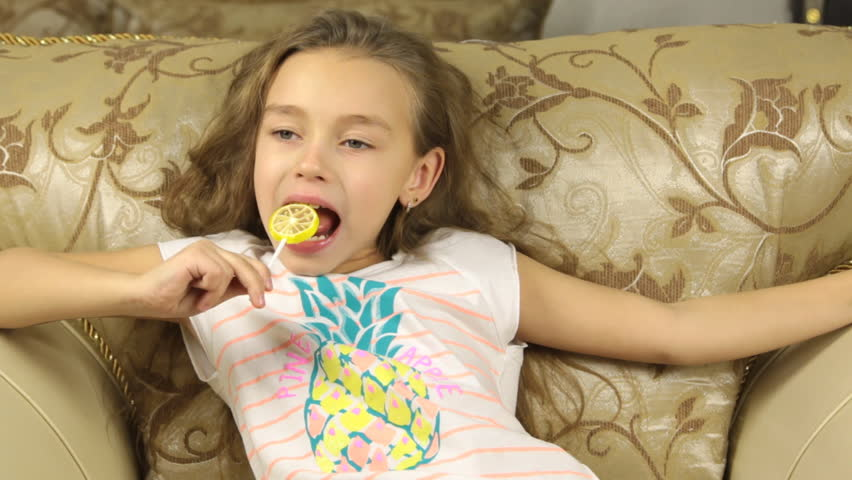 Young Girl Showing Middle Finger Stock Footage Video (100%