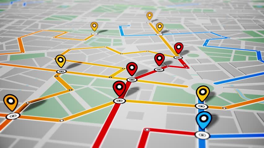 GPS Navigation, Localization. Seamless loop. 4k - Ultra HD. | Shutterstock HD Video #13255625