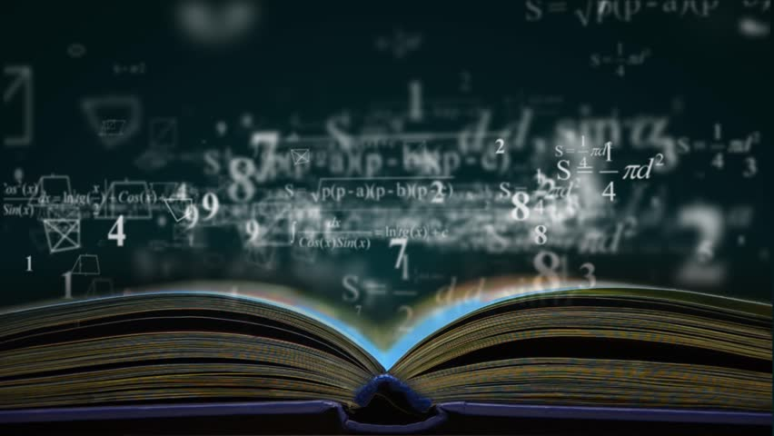 Math physics formulas from book. computer generated loopable motion background | Shutterstock HD Video #13299221