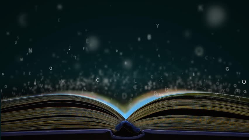 Letters flying out of an open book | Shutterstock HD Video #13299230