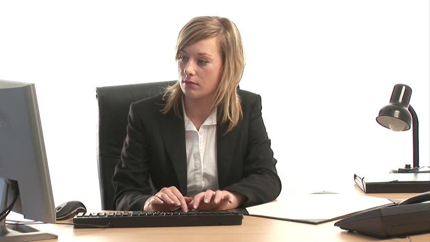 Corporate Businesswoman at Work   Shutterstock HD Video #133663