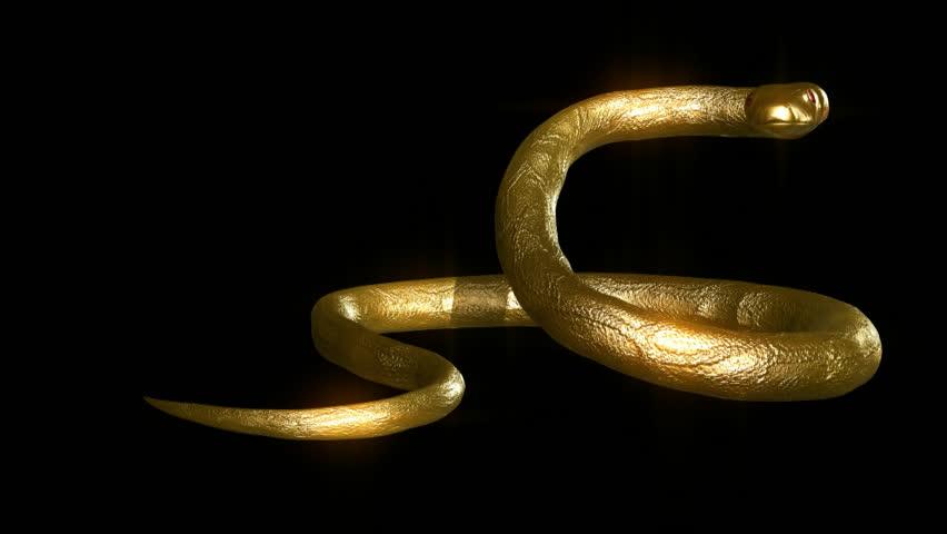 Картинки змеи золотые