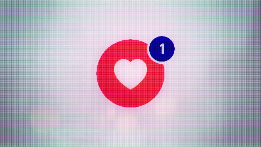 Abstract background with animation of social like button with counter  on web site. Animation of seamless loop. | Shutterstock HD Video #13461179