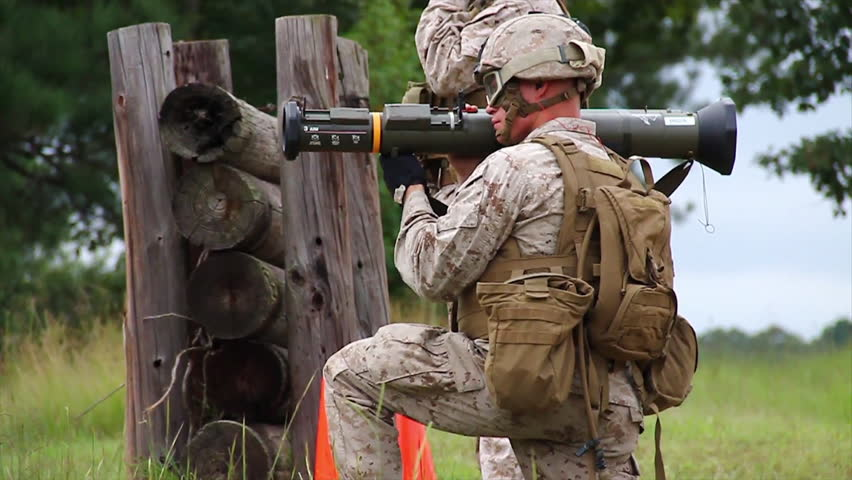CIRCA 2010s - Marines learn to fire the AT-4 light anti-armor weapon in simulated battle.