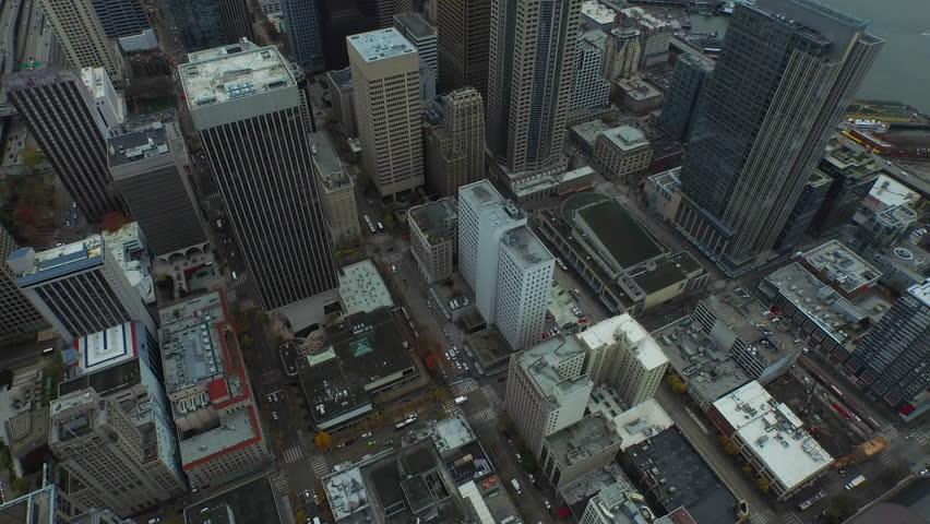 Aerial video of downtown Seattle Washington. #13502354