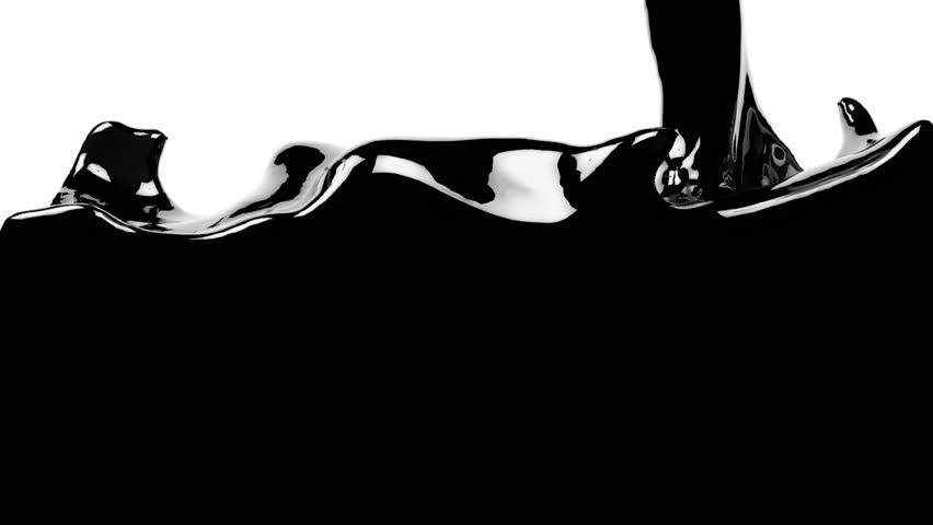 Oil fills  screen.  fluid flows down . Pouring  screen. liquid fills screen. 3d render. with alpha channel | Shutterstock HD Video #13517471