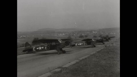 CIRCA 1940s - Aerial views of Germany during World War Two.