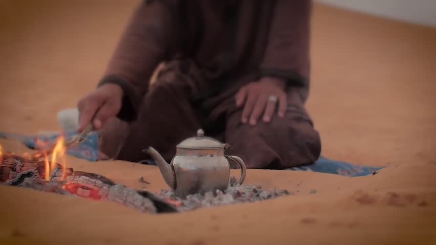 a tea in the desert