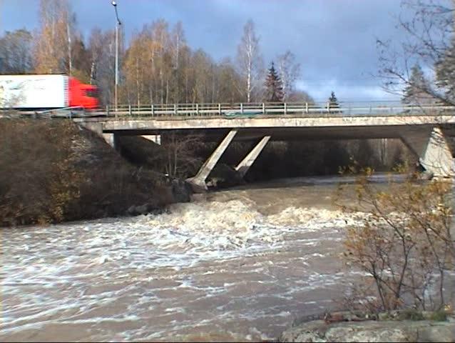 Cars running on the bridge | Shutterstock HD Video #13590