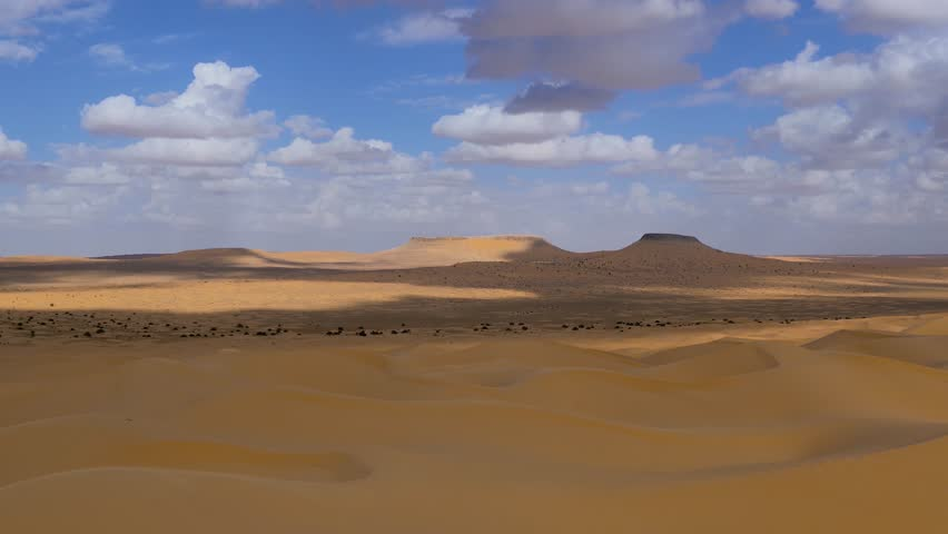 Sahara Desert, Tembaine, Tunisia. Typical landscape. #13590587