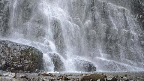 Waterfall among the rocks